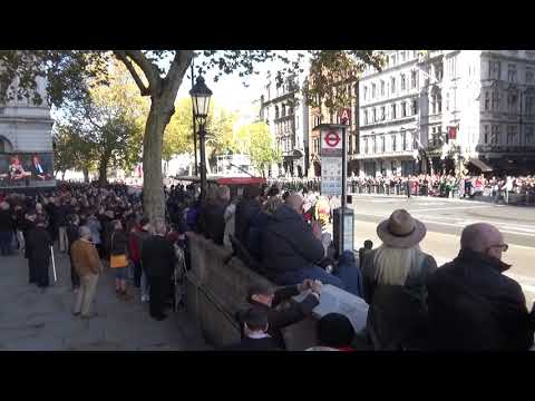 Remembrance Sunday 2018 March Off Irish Guards