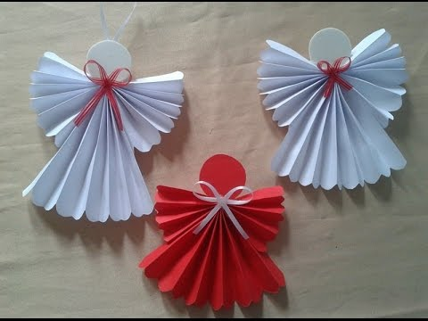 Como fazer um anjinho em papel para decora o youtube - Papel infantil para pared ...