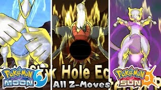 Pokemon Sun & Moon - All Z-Moves w/ Legendary (HQ)