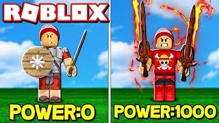 DEFEATING POWERFUL WARRIORS WITH SUPER WEAPONS in ROBLOX → RPG Simulator (Warrior Simulator) 🎮