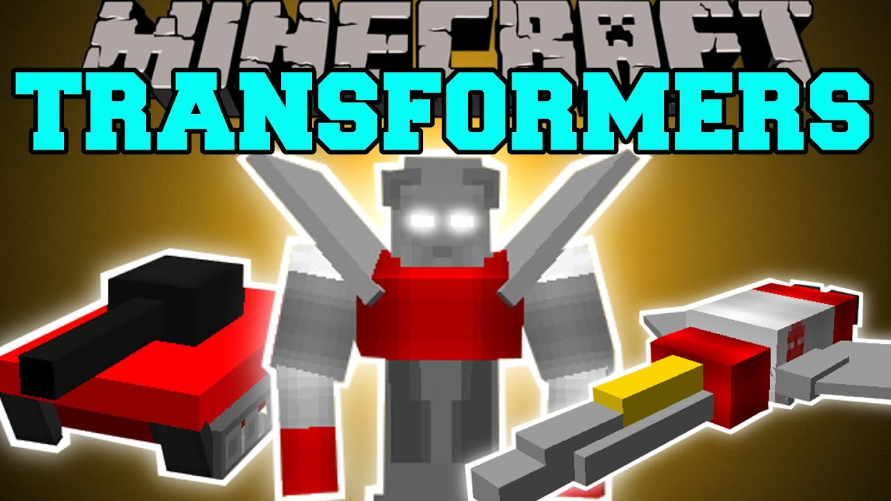 Minecraft Transformers Morph Into Robots Planes Tanks Cars Mod Showcase Youtube