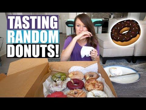 TASTE TESTING FANCY DONUTS!