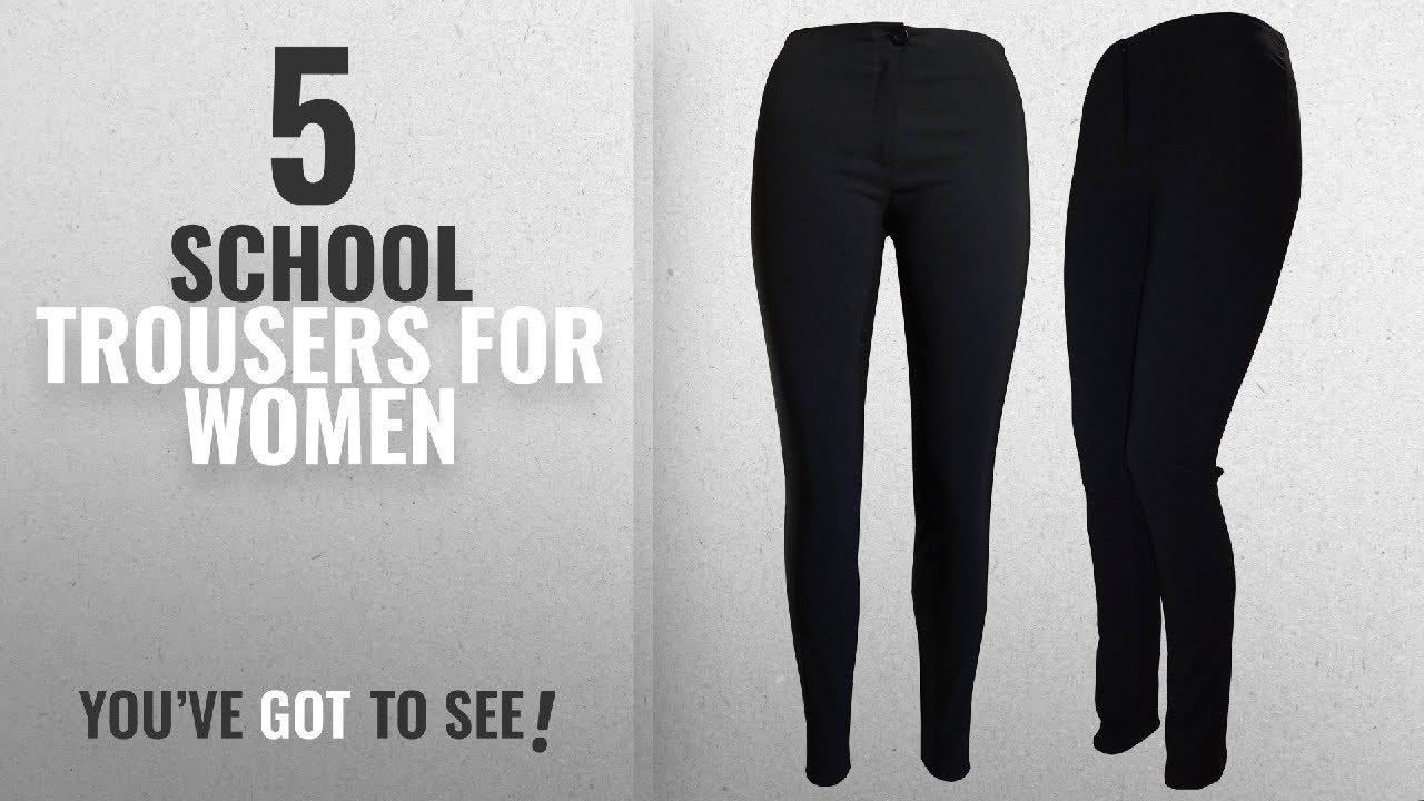 9e4061e18 Top 10 School Trousers For Women [2018]: Girls Black Skinny School ...