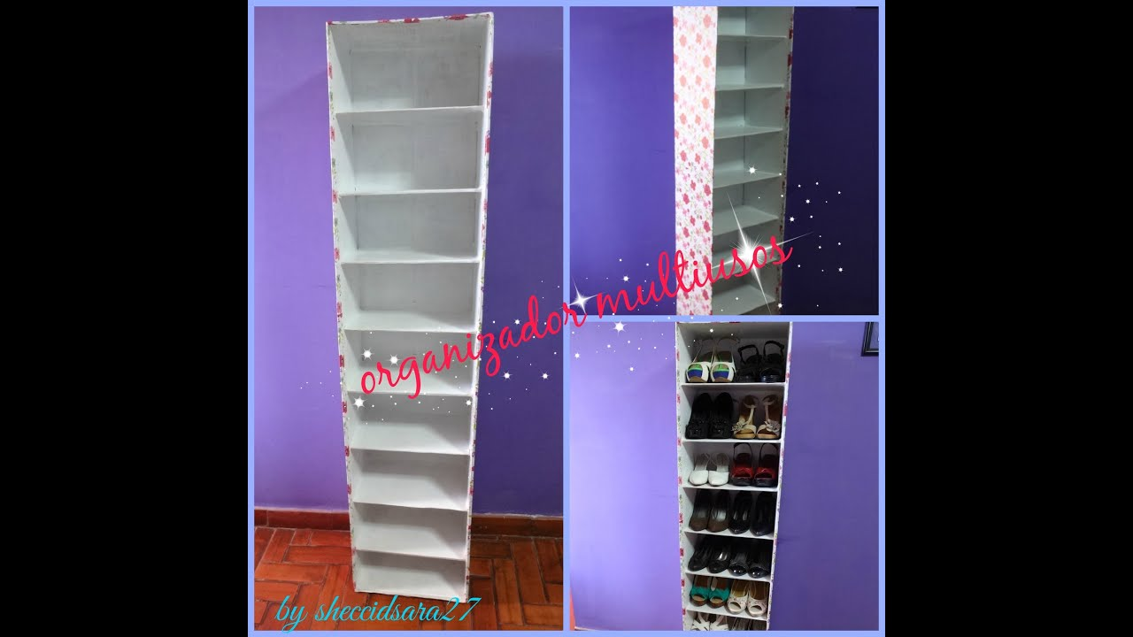 Mueble organizador multiusos zapatera youtube for Zapateras de madera