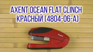 Розпакування Axent Ocean Flat Clinch №24/6 25 аркушів Червоний 4804-06-A