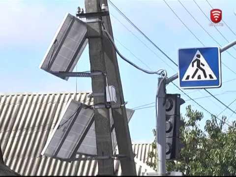 Телеканал ВІТА новини 2015-10-08 Світлофор на сонячній енергії запрацював у Вінниці