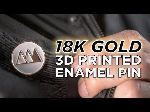 Making an 18K GOLD 3D Printed Enamel Pin