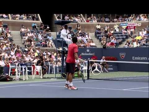 US Open 2012 QF Tipsarevic vs Ferrer