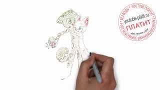 Девушка кошка нарисованная  Как поэтапно карандашом нарисовать красивую пару кота и кошки
