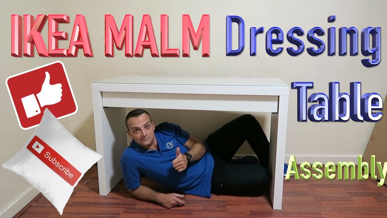 Ikea Malm Dressing Table Makeup Assembly Youtube