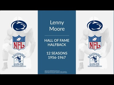 Lenny Moore: Hall of Fame Football Halfback