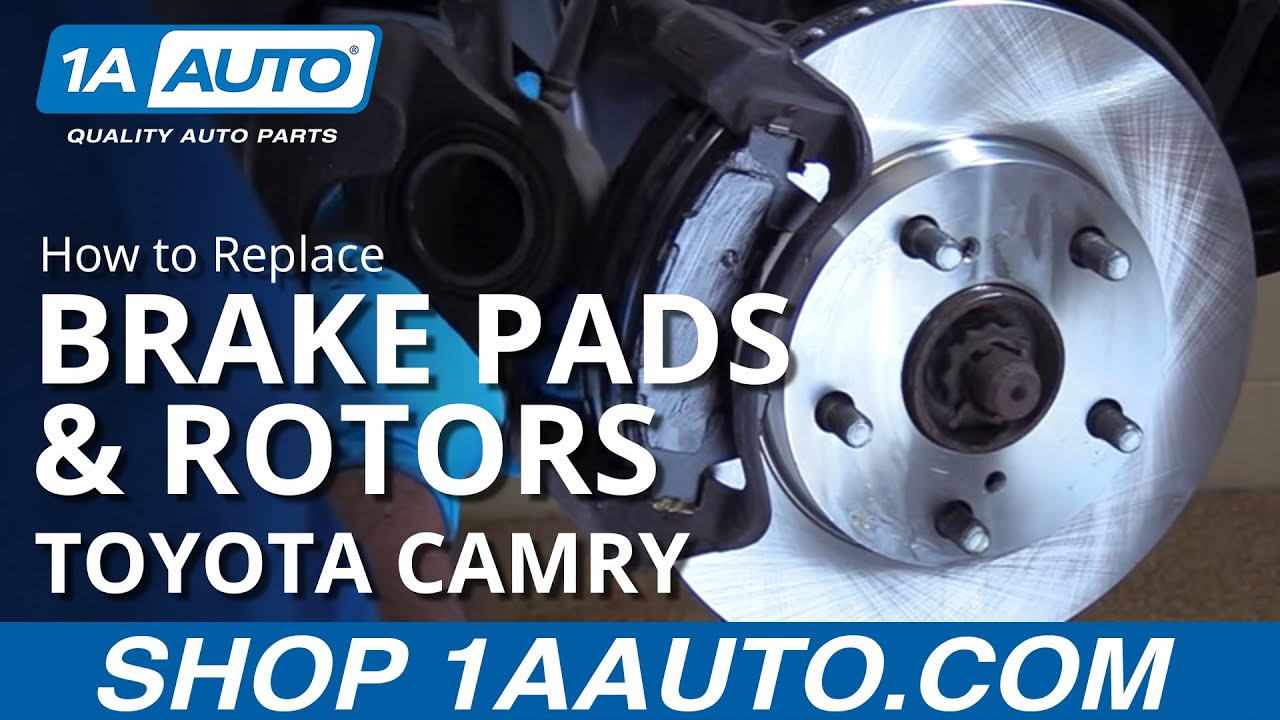 How To Replace Brake Pads And Rotors 92 00 Toyota Camry Youtube Controller Wiring Diagram