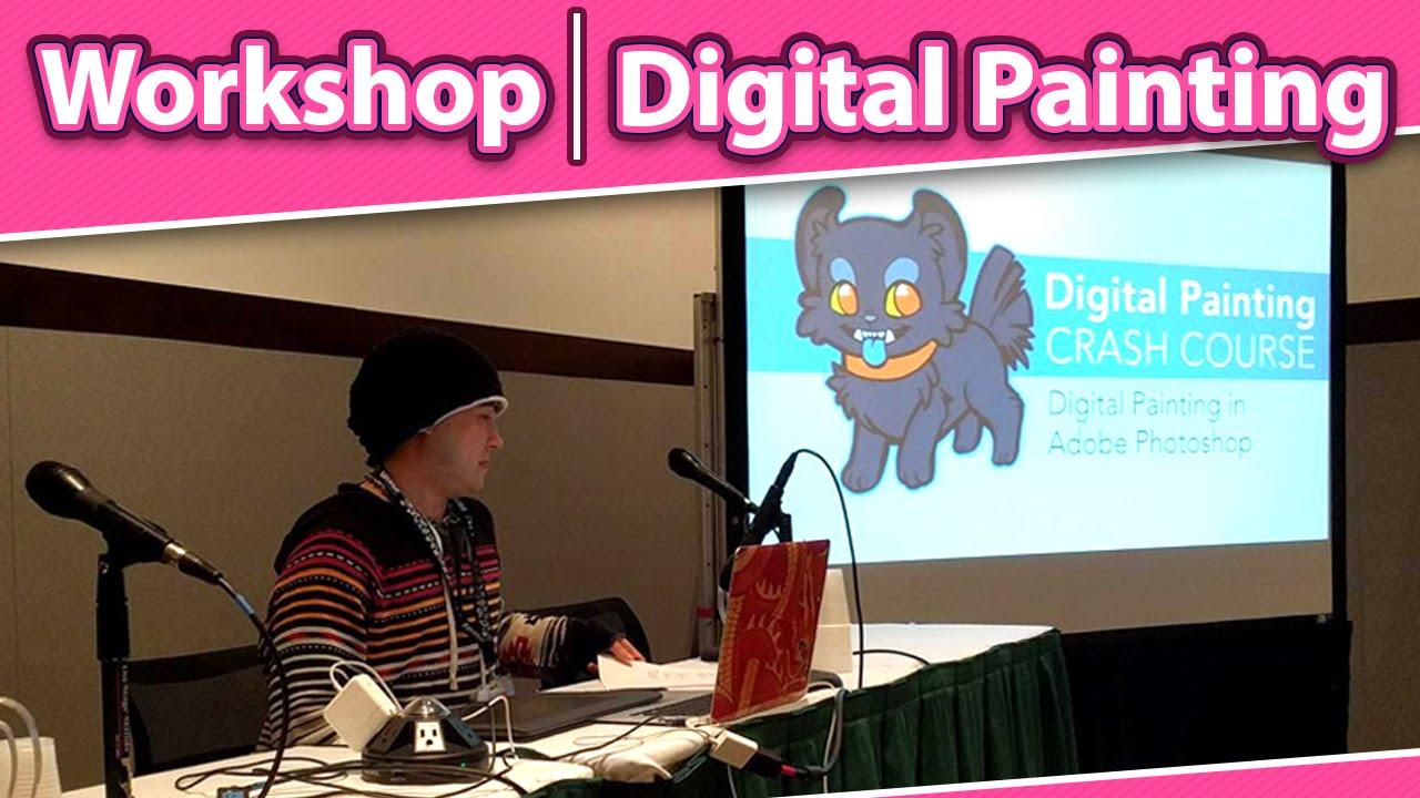 LIVE At Anime Boston 2016 Digital Painting Workshop