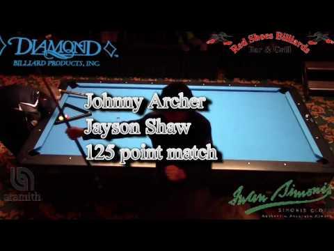 Johnny Archer Jayson Shaw  Straight Pool Match to 125