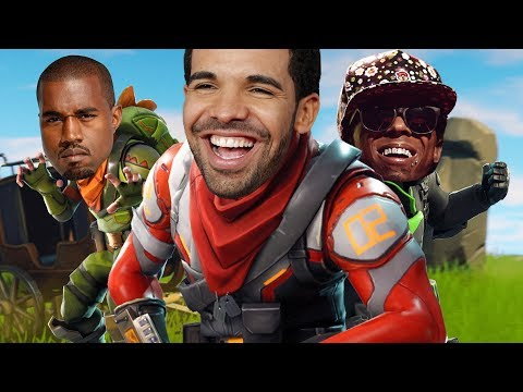 PRICELESS Drake And Kanye West Voice Impressions Make Players UNCOMFORTABLE In Fortnite!