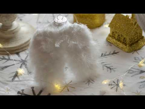 DIY ANGEL REMEMBRANCE ORNAMENT WITH ANGEL WINGS | SIMPLY DOVIE