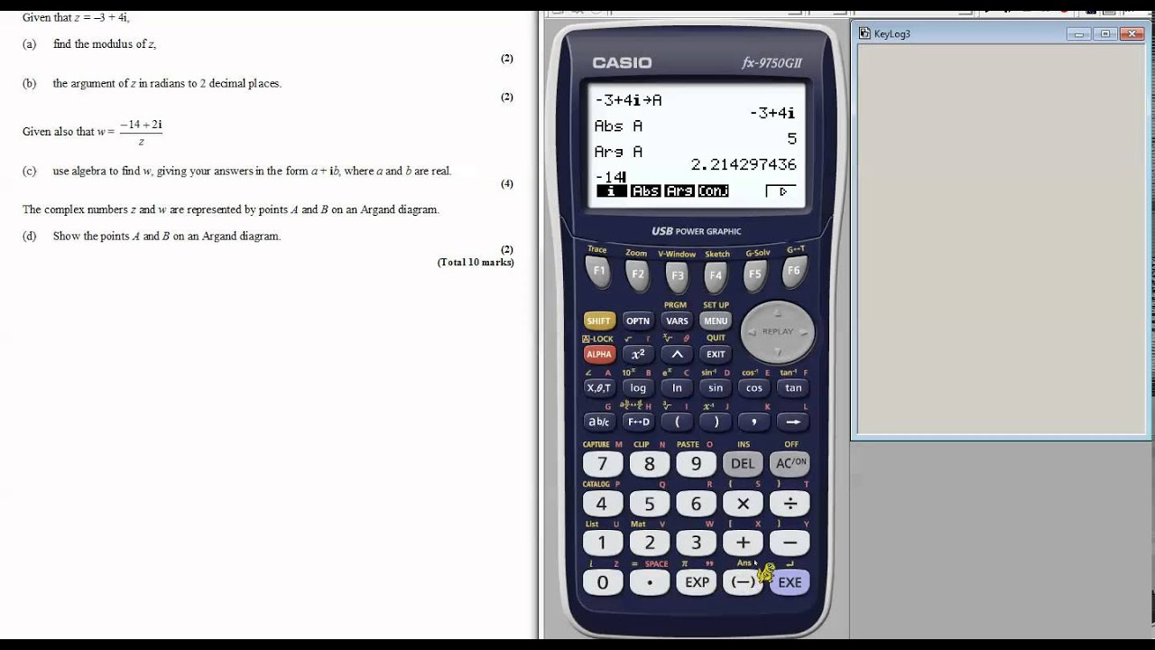 How to use your graphics calculator to work with complex numbers ...
