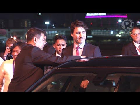 APEC 2015: Arrival of Justin Trudeau, Canada Prime Minister