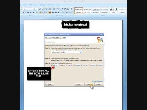office 2007 activation keygen telephone
