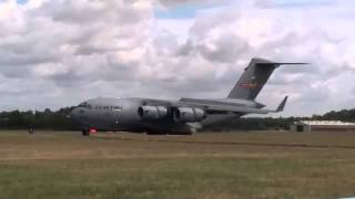 Tactical Short Landing C 17 vs A400M  What Brakes The Most  Reversers, Wheels, Props, Spoilers
