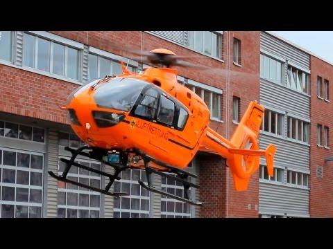 Hubschrauber Landung und Start in Wuppertal