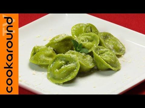 Ravioli verdi con ricotta e mortadella / Ricette primi piatti sfiziosi
