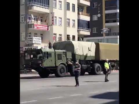 Türkiye'nin satın aldığı S-400'ler test için Sinop'a götürülüyor