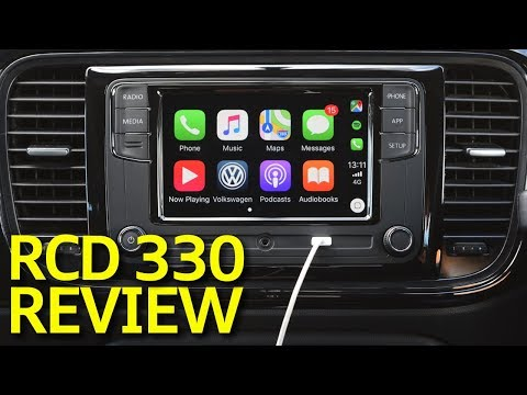 VW RCD 330 G Plus Review With Reversing Camera