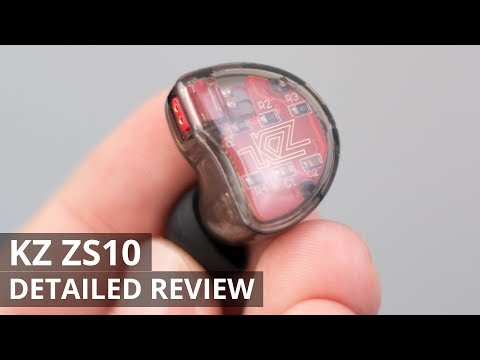KZ ZS10 IEM - UNBOXING AND DETAILED REVIEW - 4 BALANCED ARMATURES
