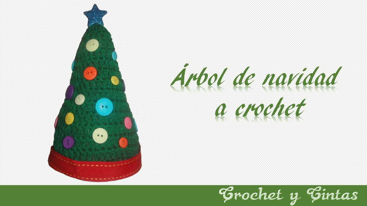 Árbol de navidad tejido a crochet - YouTube