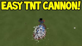 Minecraft Pocket Edition - 0.13.0 Easy Player TNT Cannon - Tutorial