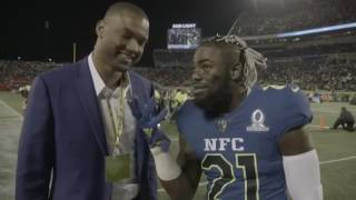 Landon Collins on the field at Pro Bowl