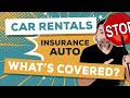 Does My Insurance Cover A Rental Car?