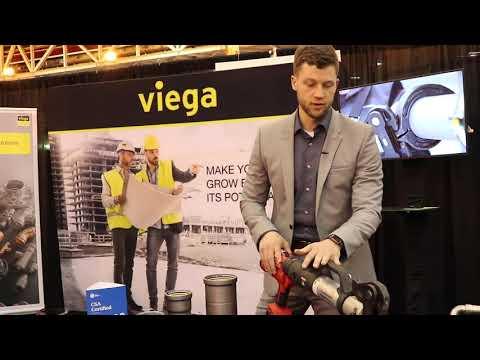 2019 PowerGen: Viega Product Demonstration — MegaPress Line Press-In Branch Connector