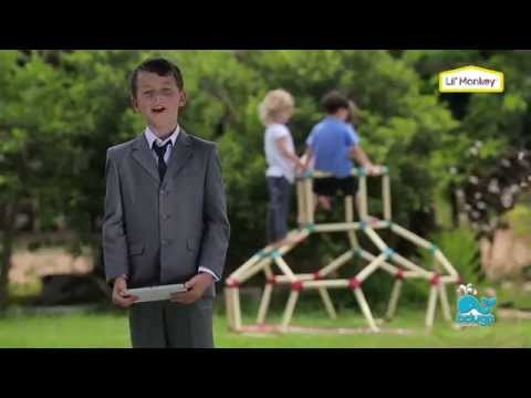 Lil Monkey Klettergerüst : Interaktives klettergerüst dome climber beluga spielwaren youtube