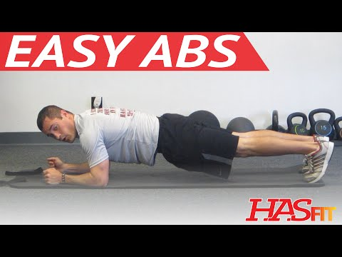 Easy Abs Workout for Beginners -  HASfit 5 Minute Quick Abs - Easy Stomach Abdominal Exercises