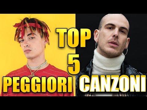 TOP 5 CANZONI PEGGIORI DEL 2018