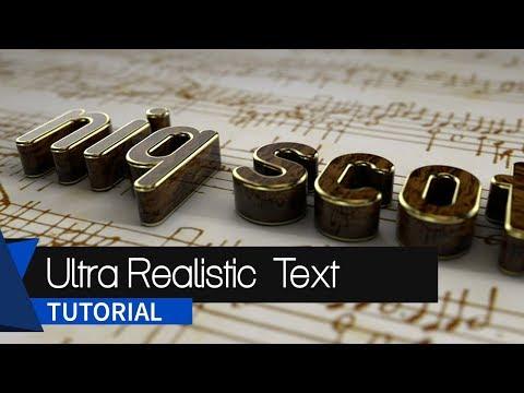 Ultra-Realistic Text Tutorial Inside Cinema 4d