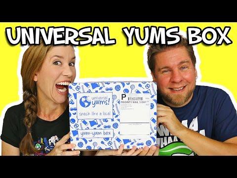 Universal Yums - Yum Yum Box Unboxing & Taste Test