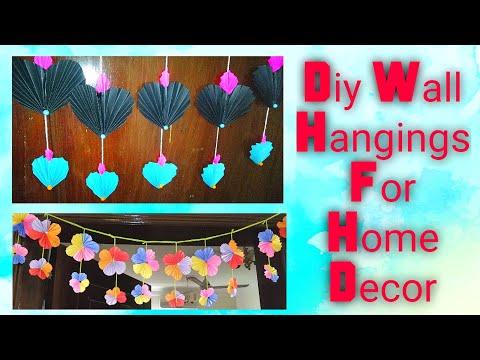 2easy Diwali home decoration ideas / Diy paper craft ideas for diwali / Diy Door hanging decor ideas
