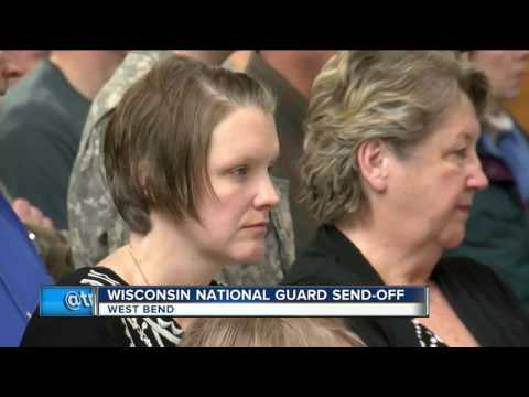 Family, friends gather for send-off ceremonies for deploying Wisconsin National Guard units