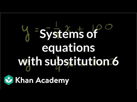 Analyzing solutions to linear systems algebraically | Algebra I | Khan Academy
