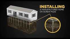 GoliathTech - Mobile Home Screw Pile System Installation
