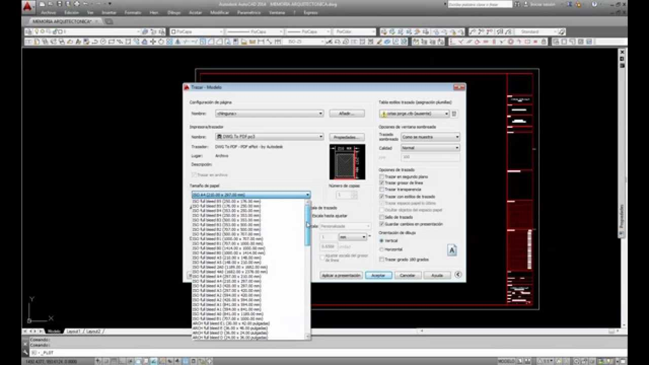 Como guardar en pdf desde autocad - YouTube