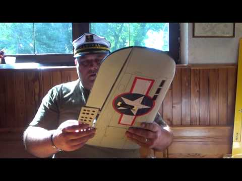 SBD Dauntless EP-GP 1540mm ARF Unboxing & Review