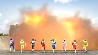 Super Sentai Legend Wars: Sun vulcan + Goggle V (Cross Over Movie Part 5)