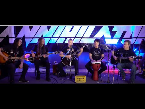 """Annihilator release acoustic performance of """"In The Blood"""" off Triple Threat Un-Plugged"""
