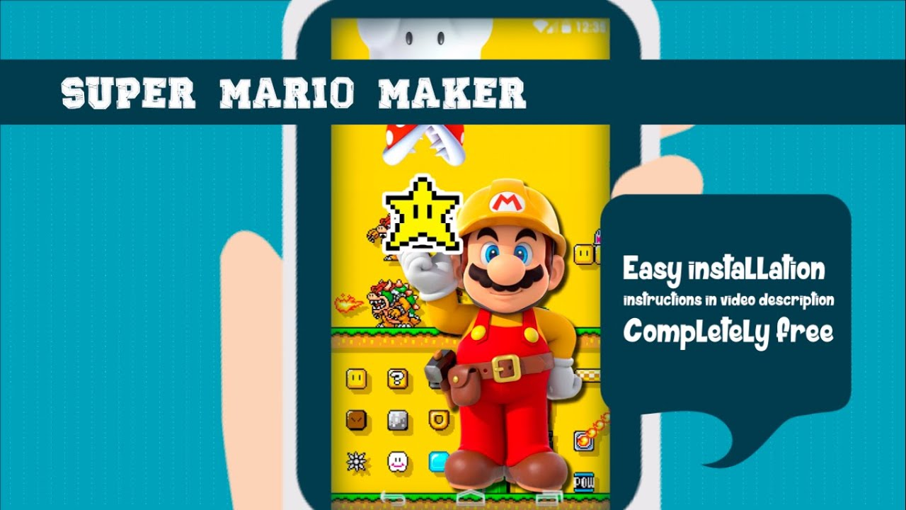 Free Live Wallpaper Gamers Super Mario Maker