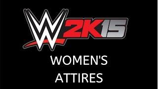 WWE 2K15 divas attires