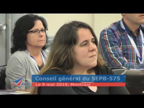 Le Conseil général du SEPB-575